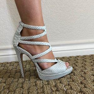 Shoemint faux snake skin heels